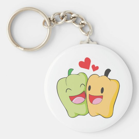 Two Sweet Bell Pepper Lovers Keychain