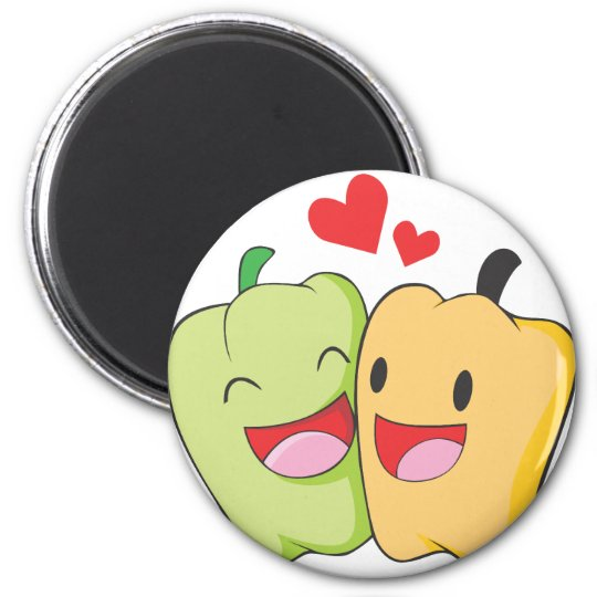 Two Sweet Bell Pepper Lovers Magnet