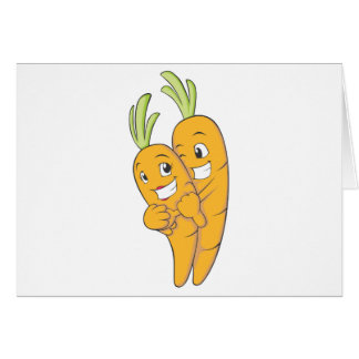 Two Sweet Carrot Lovers Card