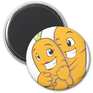 Two Sweet Carrot Lovers Magnet