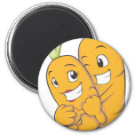 Two Sweet Carrot Lovers Magnets