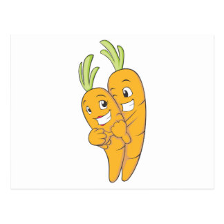 Two Sweet Carrot Lovers Postcard