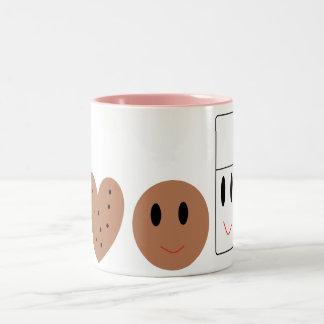 Two Sweet Cookies and Milk Two-Tone Coffee Mug