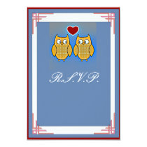 Two Sweet Owls Wedding Card