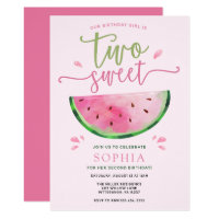 Two Sweet Watermelon Birthday Invitation