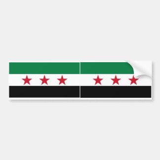 TWO Syria Flag Car Bumper Sticker
