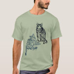 Two Tabby Cats T Shirts