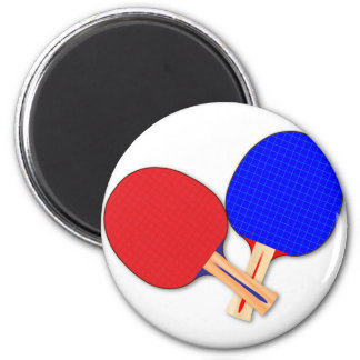 Two Table Tennis Bats Magnet