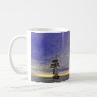Two Tallships Classic White Coffee Mug