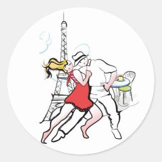 Two Tangueritos in Paris Round Stickers