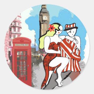 Two Tangueros in London Sticker