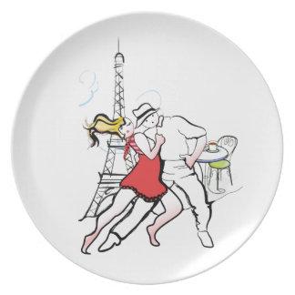 Two Tangueros in Paris Dinner Plate