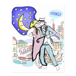 Two Tangueros in Venice Postcard