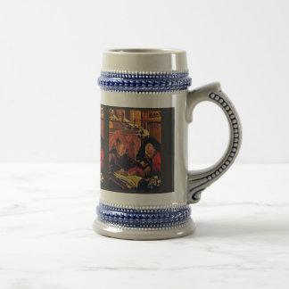 Two Tax Collectors By Reymerswaele Marinus Claesz. Beer Stein