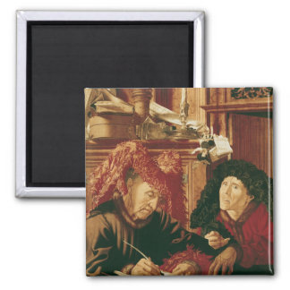 Two Tax Gatherers, c.1540 2 Inch Square Magnet