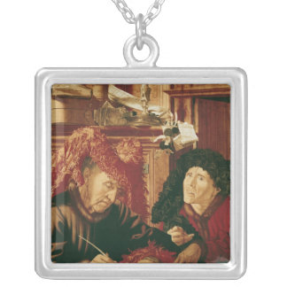 Two Tax Gatherers, c.1540 Square Pendant Necklace