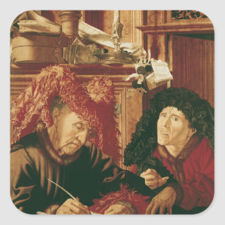 Two Tax Gatherers, c.1540 Square Sticker