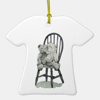 """Two Teddies in a Windsor"" T-shirt Ornament"