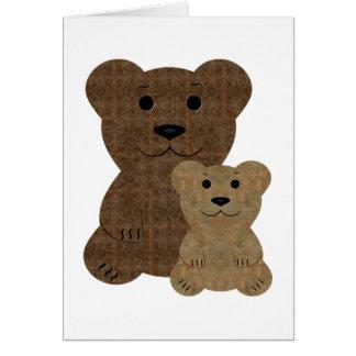 Two Teddy  Bears Card