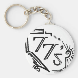 two tees basic round button keychain