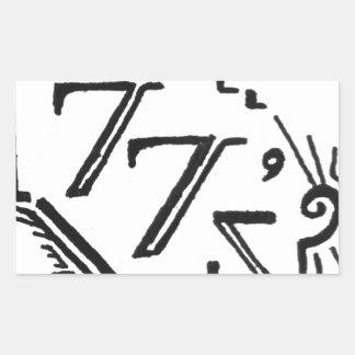 two tees rectangular sticker
