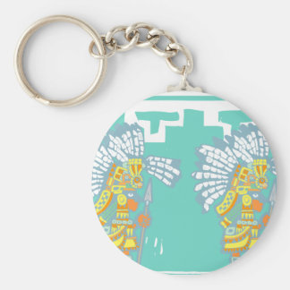 Two Teotihuacan Warriors #1 Basic Round Button Keychain