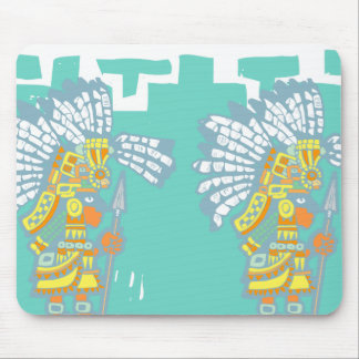 Two Teotihuacan Warriors #1 Mouse Pad