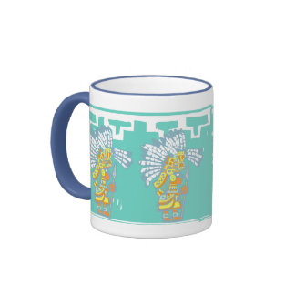 Two Teotihuacan Warriors #1 Ringer Coffee Mug