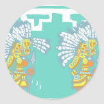 Two Teotihuacan Warriors #1 Sticker