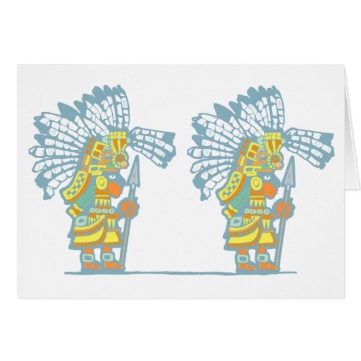 Two Teotihuacan Warriors #2 Cards