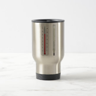 Two Thermometers Travel Mug