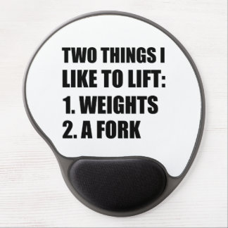 Two Things Lift Weights Fork Gel Mouse Pad