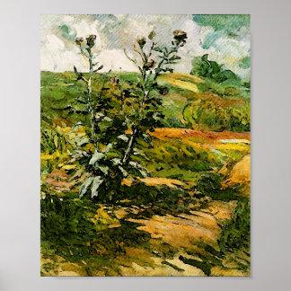 Two Thistles Van Gogh Fine Art Poster