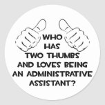 Two Thumbs .. Administrative Assistant Sticker