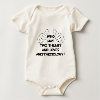 Two Thumbs and Loves Anesthesiology Baby Bodysuit