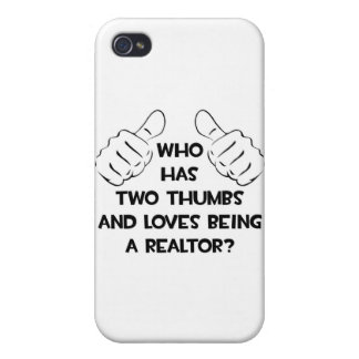 Two Thumbs and Loves Being a Realtor Case For iPhone 4