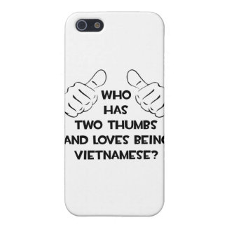 Two Thumbs and Loves Being Vietnamese iPhone SE/5/5s Cover
