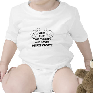 Two Thumbs and Loves Microbiology Baby Creeper