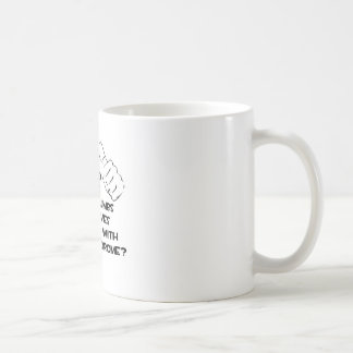 Two Thumbs and Loves Someone .. Down Syndrome Classic White Coffee Mug