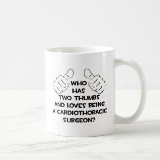 Two Thumbs .. Cardiothoracic Surgeon Coffee Mugs