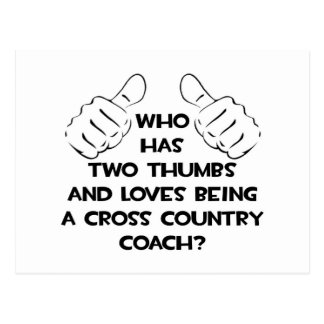 Two Thumbs .. Cross Country Coach Postcard
