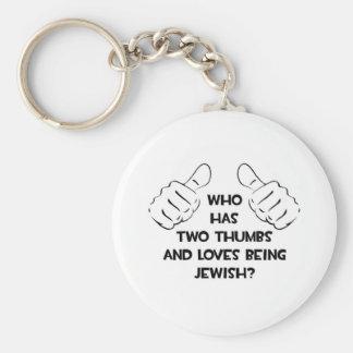 Two Thumbs .. Jewish Keychain