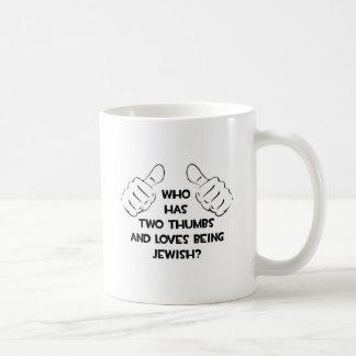 Two Thumbs .. Jewish Coffee Mug