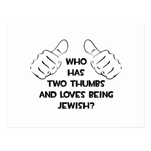 Two Thumbs .. Jewish Post Cards