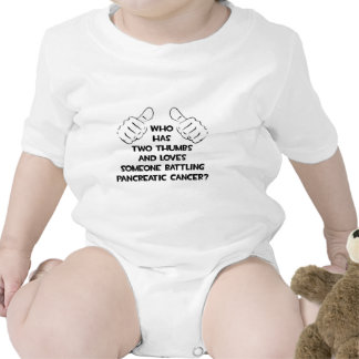 Two Thumbs .. Loves Someone .. Pancreatic Cancer Bodysuit