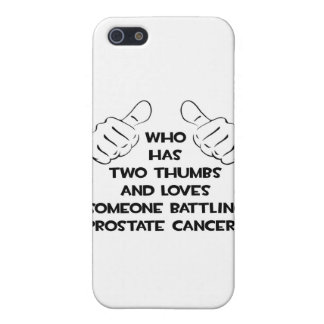 Two Thumbs Loves Someone Prostate Cancer Covers For iPhone 5