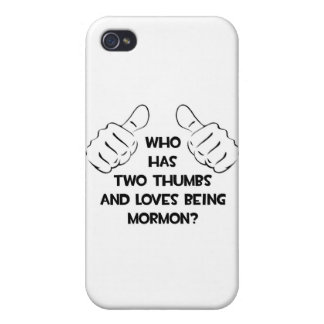 Two Thumbs .. Mormon iPhone 4/4S Cover