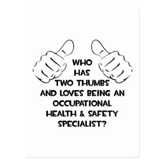 Two Thumbs .. Occupational Health Specialist Postcard