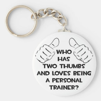 Two Thumbs .. Personal Trainer Keychain