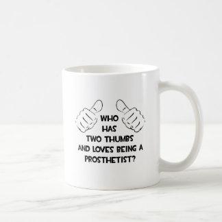Two Thumbs .. Prosthetist Classic White Coffee Mug